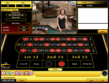 Live roulette - EuroGrand